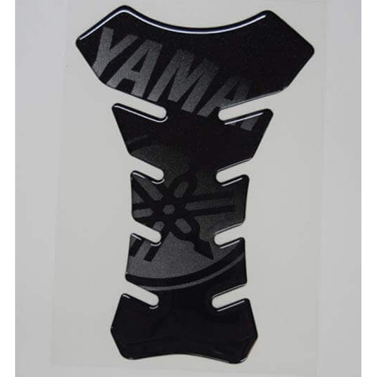 Tankpad Racing Yamaha μαύρο (ασημί γράμματα)
