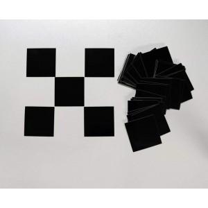 Αυτοκόλλητα σημαίας τερματισμού 60 τεμ. μαύρα
