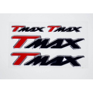 Αυτοκόλλητα Yamaha T-MAX 3D κόκκινα-μαύρα