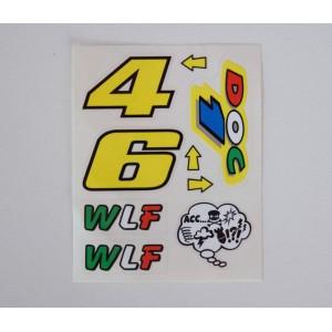 Αυτοκόλλητα σετ Valentino Rossi ''DOC 1'' 10 x 12 εκ. (6 τεμ)