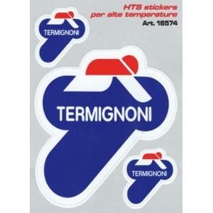 Αυτοκόλλητα QTR Termignoni για εξατμίσεις (υψηλών θερμοκρασιών) 12 x 9,5 εκ. (3 τεμ.)