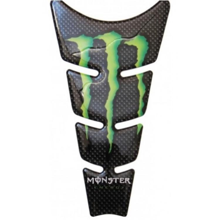 Tankpad QTR Monster 3D μαύρο carbon look