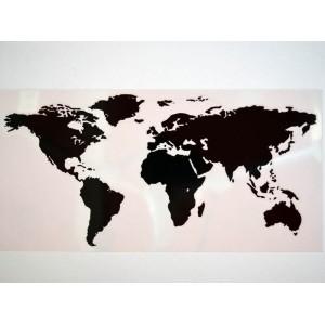 Αυτοκόλλητο QTR ''WORLD'' 30 x 15 εκ. μαύρο