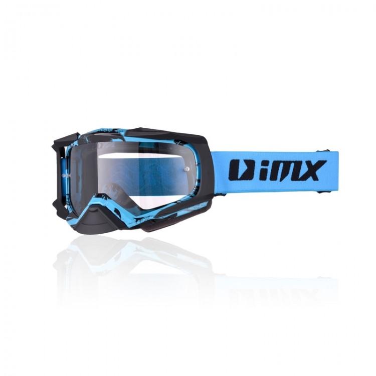 Μάσκα Enduro/Motocross iMX Racing Dust graphic μπλε ματ