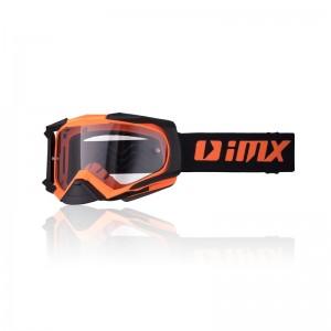 Μάσκα Enduro/Motocross iMX Racing Dust μαύρο-πορτοκαλί ματ