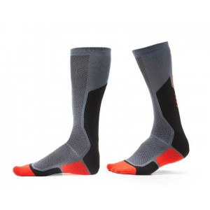 Κάλτσες RevIT Charger γκρι-κόκκινες