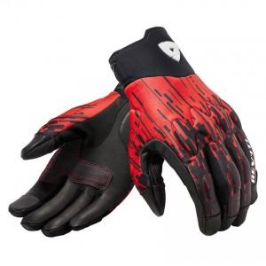 Γάντια RevIT Spectrum καλοκαιρινά μαύρα-neon κόκκινo