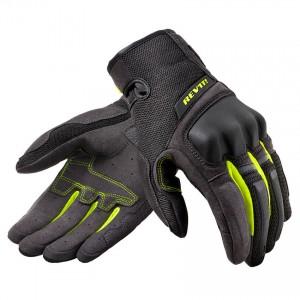 Γάντια RevIT Volcano καλοκαιρινά μαύρα-neon κίτρινο