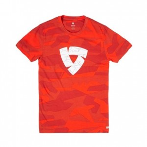 T-shirt RevIT Chester camo κόκκινο