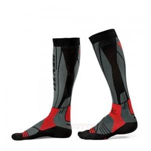 Κάλτσες RevIT Andes μακριές γκρι-κόκκινες