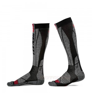 Κάλτσες RevIT Kalahari μακριές γκρι-κόκκινες (λεπτές)