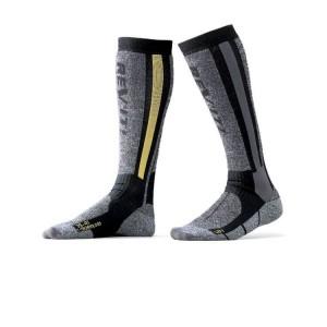 Κάλτσες RevIT Tour Winter μακριές γκρι-κίτρινες