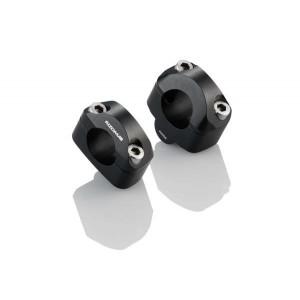 Αποστάτες - μετατροπείς ύψους 24χιλ. Rizoma τιμονιού από Ø 22mm σε fatbar (Ø 28mm) μαύροι