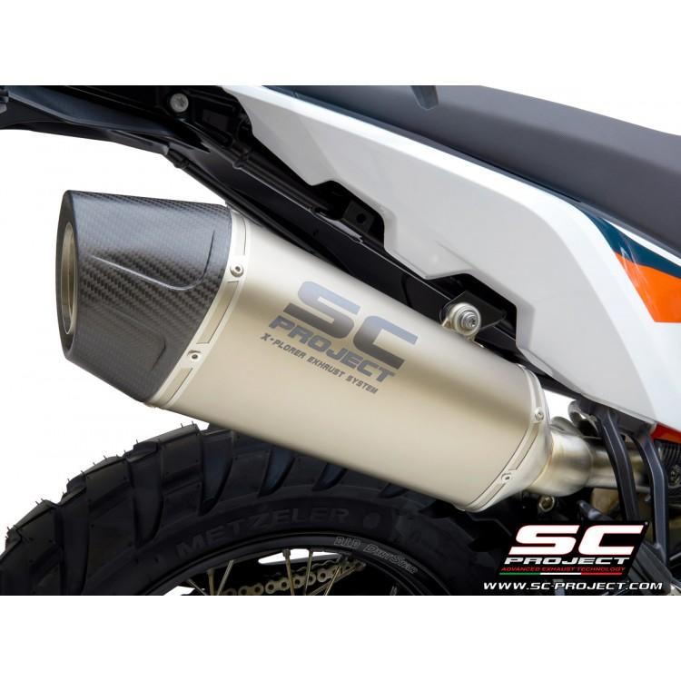 Τελικό εξάτμισης SC-Project X-Plorer II KTM 790 Adventure/R τιτάνιο-carbon