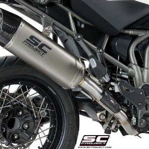 Τελικό εξάτμισης SC-Project Adventure Triumph Tiger Explorer 1200 XC/XR 16- τιτάνιο-carbon