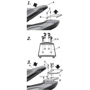 Βάση topcase SHAD Gilera Nexus 125-250-300-500 06-