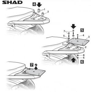 Βάση topcase SHAD Piaggio Liberty 50-125 09-