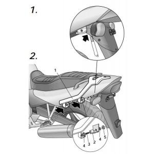 Βάση topcase SHAD Yamaha XJ6 / Diversion -05