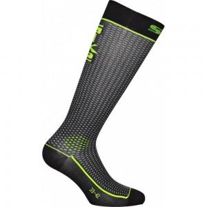 Κάλτσες SIX2 carbon μακριές (λεπτές) κίτρινες