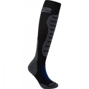 Κάλτσες Six2 Mot 2 merino μακριές μαύρο-γκρι