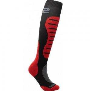 Κάλτσες Six2 Mot 2 merino μακριές μαύρο-κόκκινο