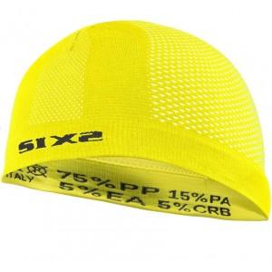 Σκουφάκι SIX2 carbon κίτρινο