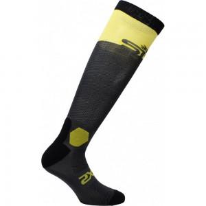 Κάλτσες Six2 Racing carbon μακριές κίτρινες