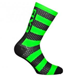 """Κάλτσες SIX2 """"Luxury"""" carbon merino κοντές μαύρο-πράσινο"""