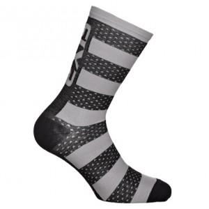 """Κάλτσες SIX2 """"Luxury"""" carbon merino κοντές μαύρο-γκρι"""