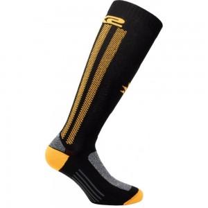 Κάλτσες Six2 Mot 2 carbon μακριές πορτοκαλί