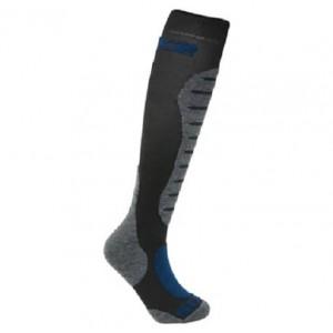 Κάλτσες SIX2 carbon merino μακριές μαύρο-γκρι