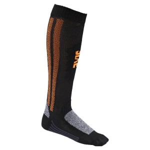 """Κάλτσες SIXS """"Βiker"""" Carbon μακριές πορτοκαλί"""