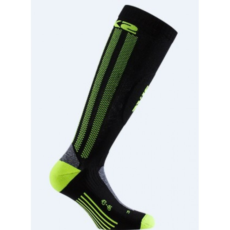 Κάλτσες SIX2 carbon μακριές κίτρινες