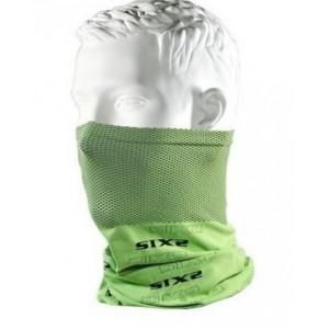 Neckwarmer SIX2 carbon πράσινο φωσφοριζέ