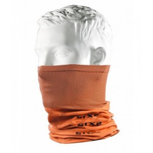 Neckwarmer SIX2 carbon πορτοκαλί φωσφοριζέ