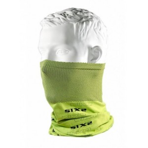Neckwarmer SIX2 carbon κίτρινο φωσφοριζέ