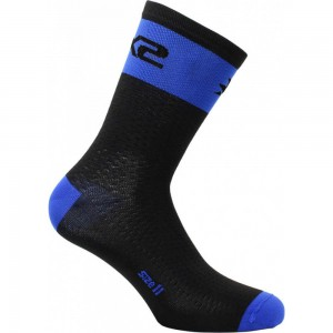 Κάλτσες SIX2 carbon κοντές (λεπτές) μπλε