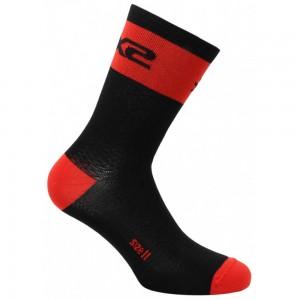 Κάλτσες SIX2 carbon κοντές (λεπτές) κόκκινες