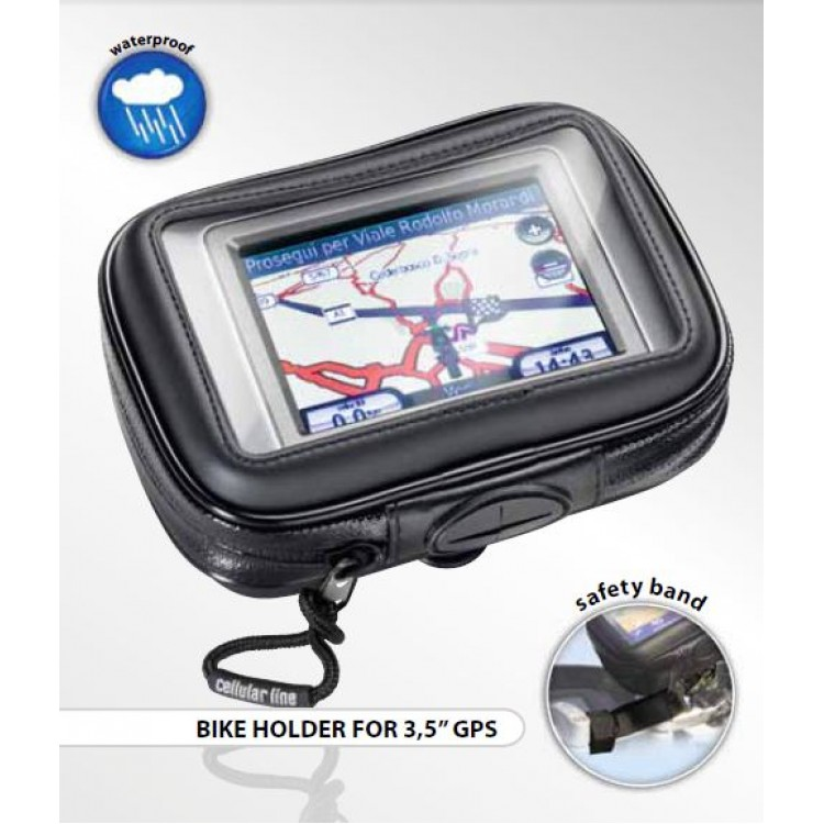 """Αδιάβροχη θήκη GPS 3.5"""" με βάση τιμονιού Interphone"""