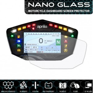Nano glass για προστασία οργάνων Aprilia V4 1100 17- (σετ 2 ultra clear)