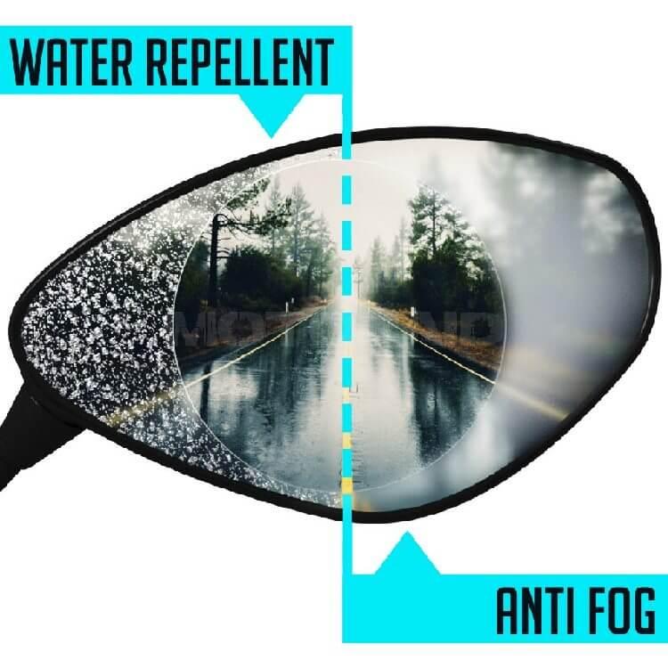 Αντιθαμβωτικά και ολισθητικά αυτοκόλλητα καθρεπτών universal οβάλ 120 x 70 χιλ.