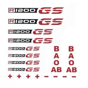 Αυτοκόλλητα BMW R 1200 GS & ομάδες αίματος μαύρο-κόκκινο
