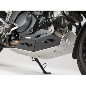 Ποδιά κινητήρα SW-Motech Suzuki DL 1000 V-Strom 14- μαύρο-ασημί (χωρίς κάγκελα)