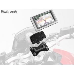 Βάση GPS SW-Motech Quick-Lock στην τιμονόπλακα BMW R 1200 GS -07