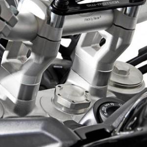 Αποστάτες τιμονιού SW-Motech 20 χιλ. Triumph Tiger 900 GT/Rally/Pro ασημί