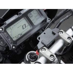 Βάση GPS SW-Motech Quick-Lock στην τιμονόπλακα Yamaha MT-09 Tracer/GT