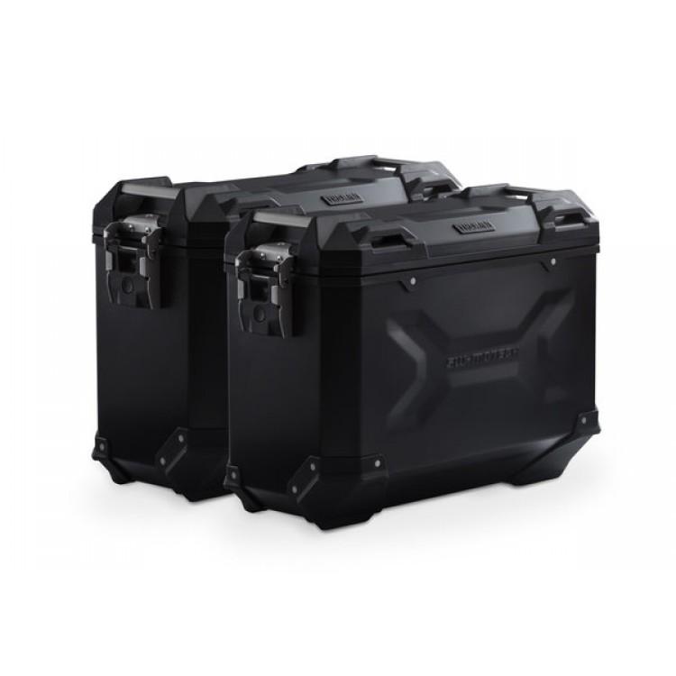Σετ βάσεων και βαλιτσών αλουμινίου SW-Motech TRAX ADV 37 lt. Honda CB 500 X μαύρο
