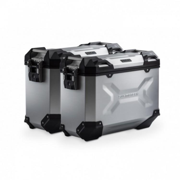 Σετ βάσεων και βαλιτσών αλουμινίου SW-Motech TRAX ADV 37 lt. Honda CB 500 X ασημί