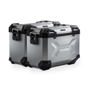 Σετ βάσεων και βαλιτσών SW-Motech TRAX ADV 45 lt. Yamaha MT-07 Tracer ασημί