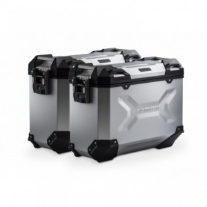 Σετ βάσεων και βαλιτσών αλουμινίου SW-Motech TRAX ADV 37 lt. Honda CB 500 F -15 ασημί